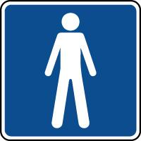 Panneau d'information toilettes hommes