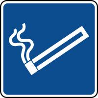 Panneau d'information espace fumeurs