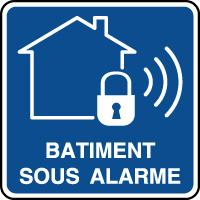 Panneau d'information bâtiment sous alarme