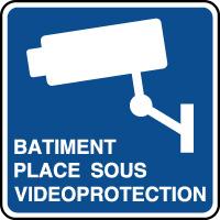 Panneau d'information bâtiment sous vidéoprotection