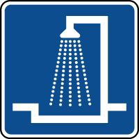 Panneau d'information salle de douche