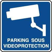 Panneau d'information parking sous vidéoprotection