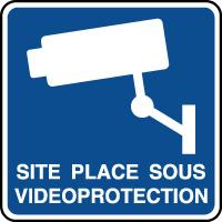 Panneau d'information site sous vidéoprotection