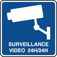 Panneau d'information surveillance h24