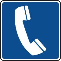 Panneau d'information carré téléphone