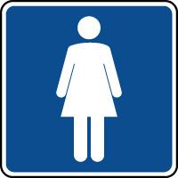 Panneau d'information toilettes dames