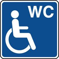 Panneau d'information WC handicapés