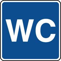 Panneau d'information WC