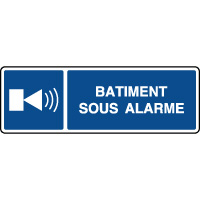 Panneau d'information horizontal présence d'alarme