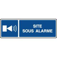 Panneau d'information horizontal site sous alarme
