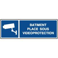 Panneau d'information horizontal vidéoprotection