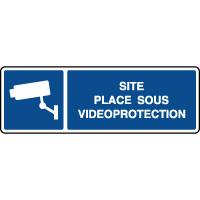 Panneau d'information site placé sous vidéoprotection