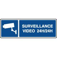 Panneau d'information vidéosurveillance 24h/24