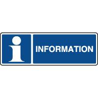 Panneau d'information horizontal information