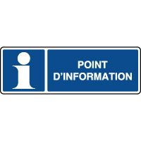 Panneau d'information horizontal point d'information