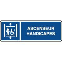Panneau d'information horizontal ascenseur handicapés