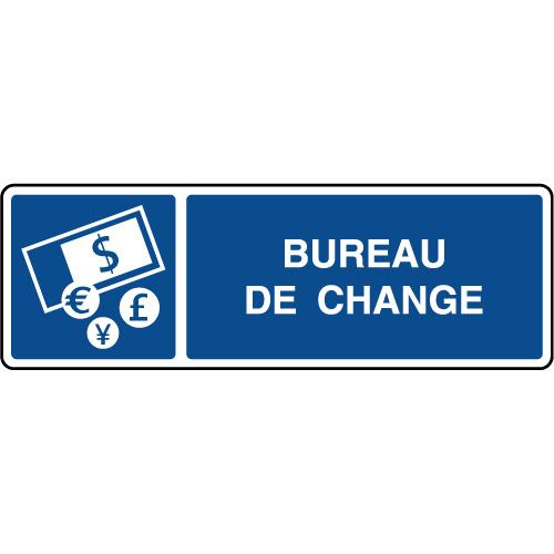 Panneau D Information Horizontal Bureau De Change