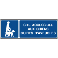 Panneau d'information accessible aux chiens d'aveugles
