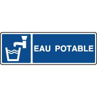 Panneau d'information horizontal eau potable