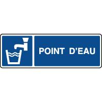 Panneau d'information horizontal point d'eau