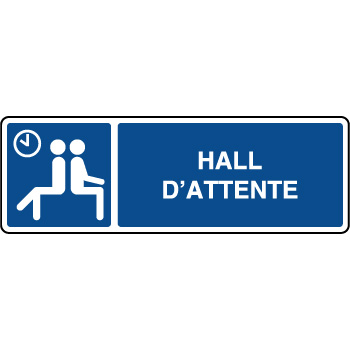 Panneau d'information horizontal hall d'attente