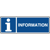 Panneau d'information horizontal avec texte information