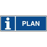 Panneau horizontal d'information plan