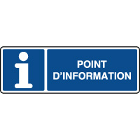 Panneau horizontal d'information ISO point d'information