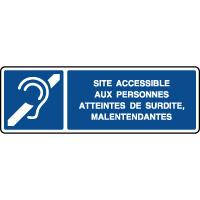 Panneau d'information horizontal accessible malentendants