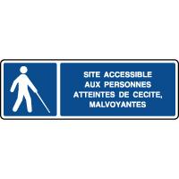 Panneau horizontal site accessible aux aveugles
