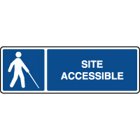 Panneau d'information site accessible aux malvoyants
