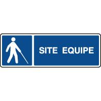 Panneau horizontal site équipé pour malvoyants