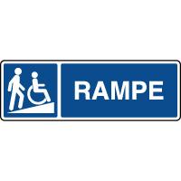 Panneau d'information rampes d'accès handicapés