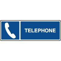 Panneau d'information horizontal ISO téléphone