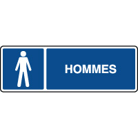 Panneau d'information horizontal ISO hommes