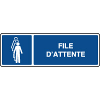 Panneau d'information horizontal file d'attente