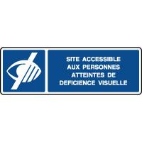 Panneau d'information accessible aux déficients visuels