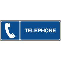 Panneau d'information horizontal téléphone