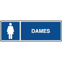 Panneau d'information horizontal dames