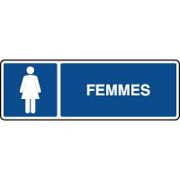 Panneau d'information horizontal femmes