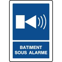 Panneau d'information vertical alarme dans le bâtiment