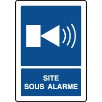Panneau d'information vertical site sous alarme