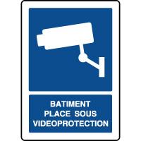 Panneau d'information vertical bâtiment vidéoprotection