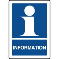 Panneau d'information vertical avec texte information