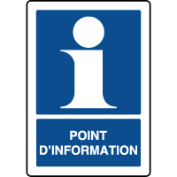 Panneau d'information vertical point information