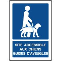 Panneau d'information vertical accessible aux chiens guides