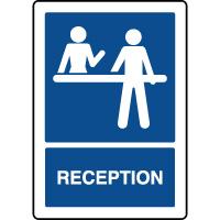 Panneau d'information vertical réception