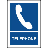 Panneau d'information vertical téléphone