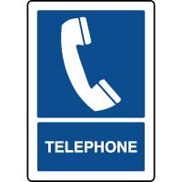 Panneau d'information vertical texte téléphone