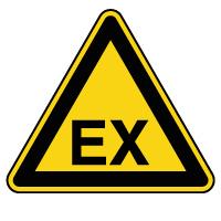 Panneau attention danger atmosphère explosive
